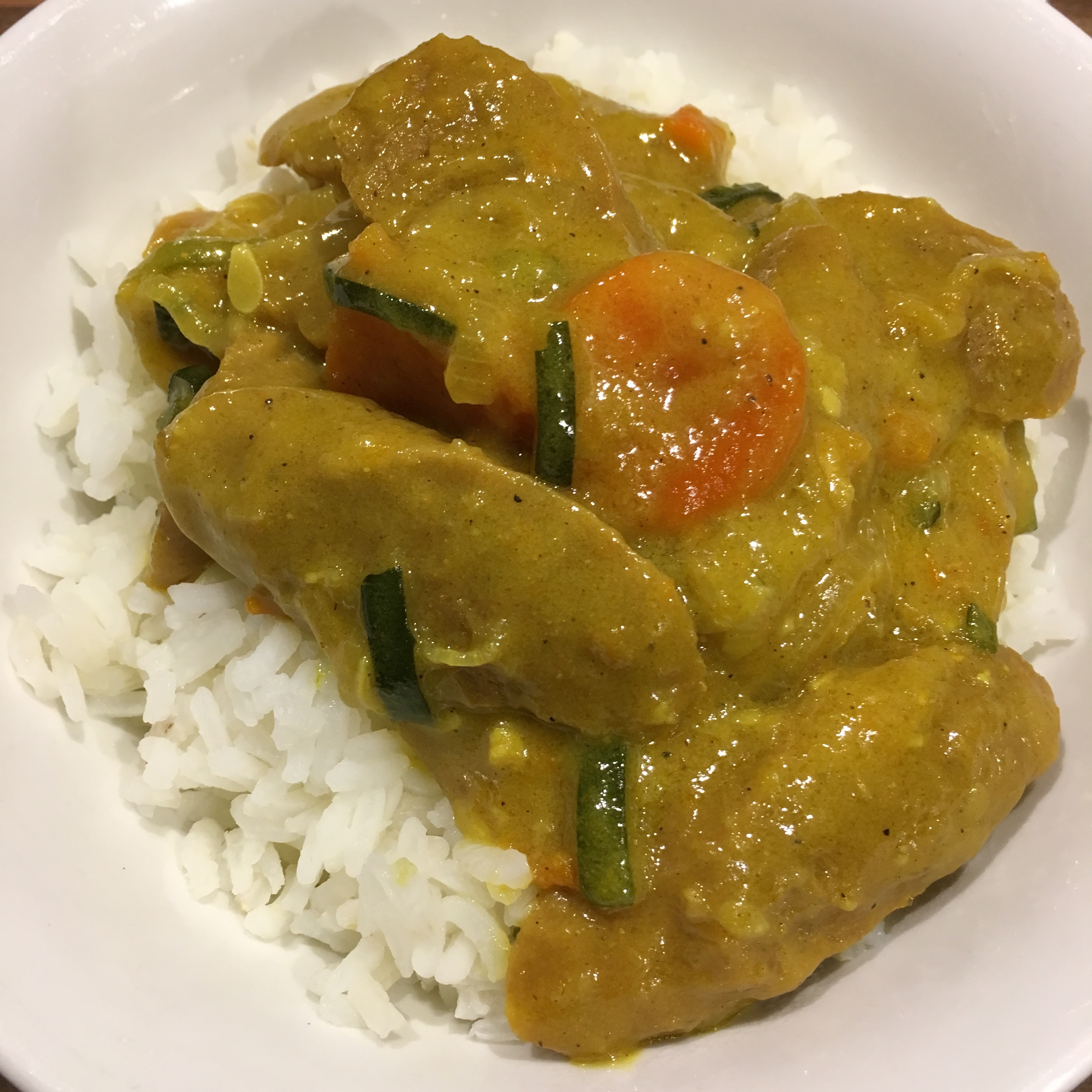 Old Fashioned Curried Sausages